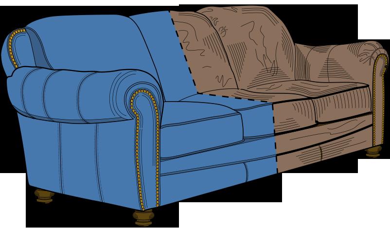 Rifoderare divano in pelle idee per il design della casa - Tappezzare divano costo ...